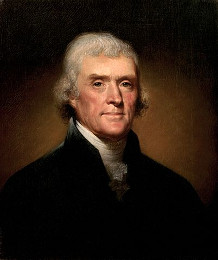 "Thomas Jefferson swore eternal resistance to tyrants ""on the altar of God."""