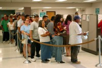 The unemployment line. Does welfare make this worse? Or is this what leftists mean by work?