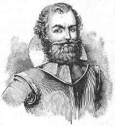Captain John Smith, famous English settlement leader