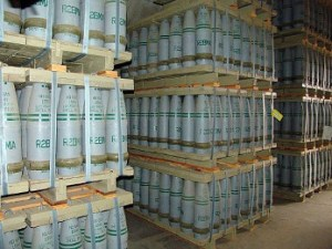 The Syria war is all about the use of chemical weapons, like these the USA still has in storage.
