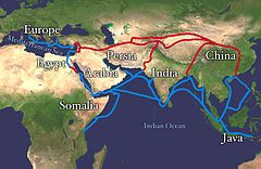 Silk Road route tracing