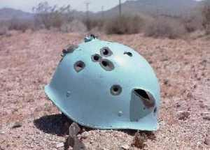 This pockmarked UN helmet symbolises the failures of globalism as nothing else can.