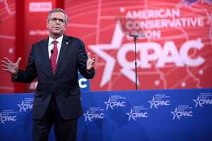 Jeb Bush speaks to CPAC. He has a terrible reputation among candidates today.