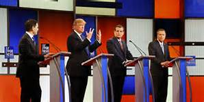 The Republican debates continue, but now down to one tier of four.