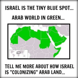 Israel compared to Muslim lands. John Kerry ignored geography in his recent speech.