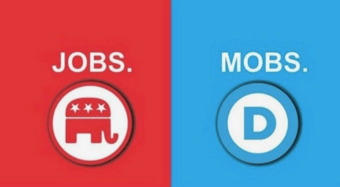 Biden and not Trump stands for mobs.