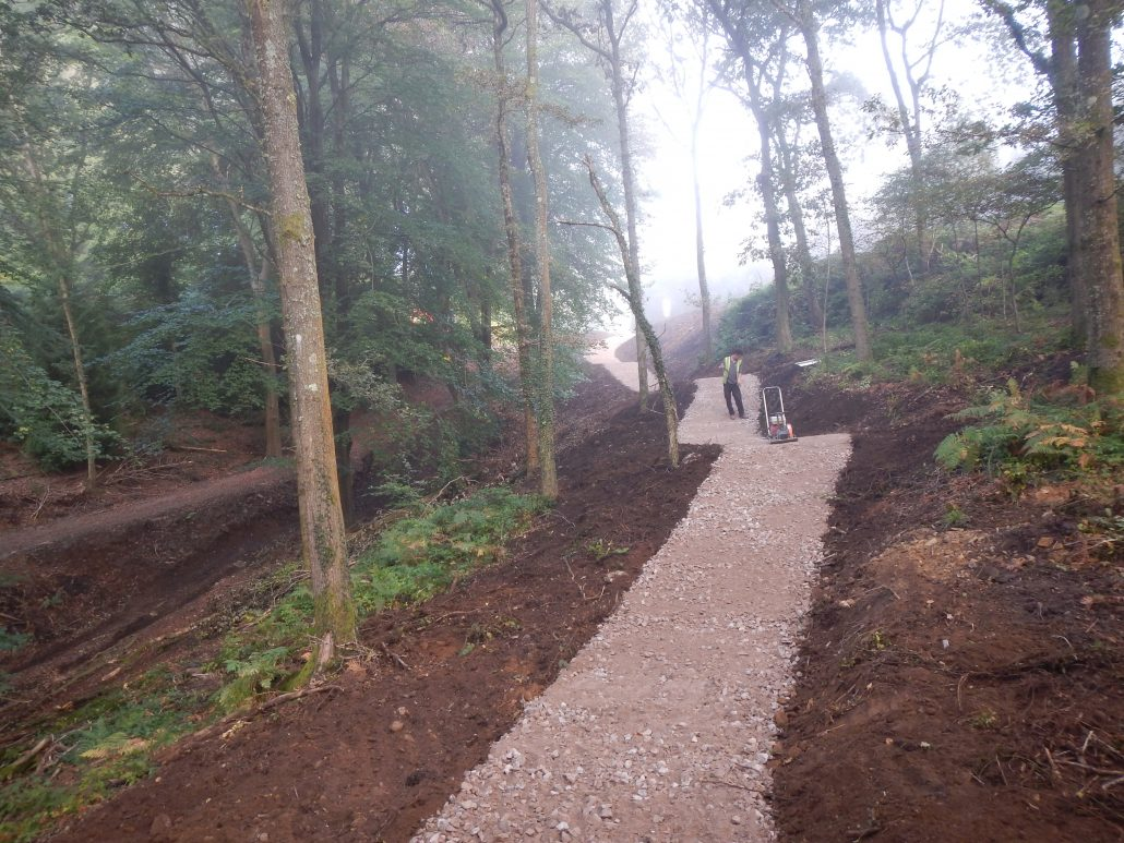 Adaptive Bike Trail Construction  Launch Pad Forest of Dean  Conservefor