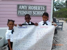 Sister School students of Amy Robert Primary School