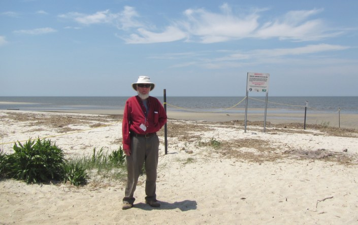 Jim May protect Cook Beach as part of  Conserve Wildlife Foundation of NJ's Shorebird Stewardship Project.  Each year the Division of Fish and Wildlife designates beaches important to shorebirds and protects them from disturbance.  The shorebird stewards alert Conservation Officers if people refuse to comply.  But most of thier job is helping people understand the shorebird migration and the needs of shorebirds and crabs