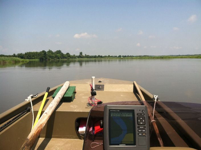 "Underway during daylight hours to check-ride new field boat, and deploy an acoustic recording unit that also ""listens"" for Black Rail."