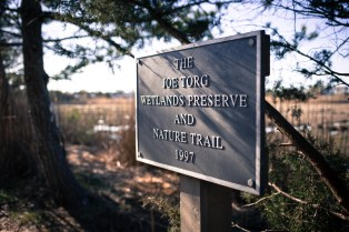 The dedication sign of the trail from the Torg family.