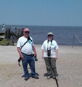 Stewards Dan & Cheryl Alexander at Cook's Beach