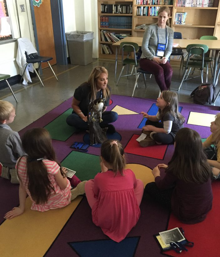 Director of Education Stephanie DAlessio with students from Memorial School in Cinnaminson, New Jersey.