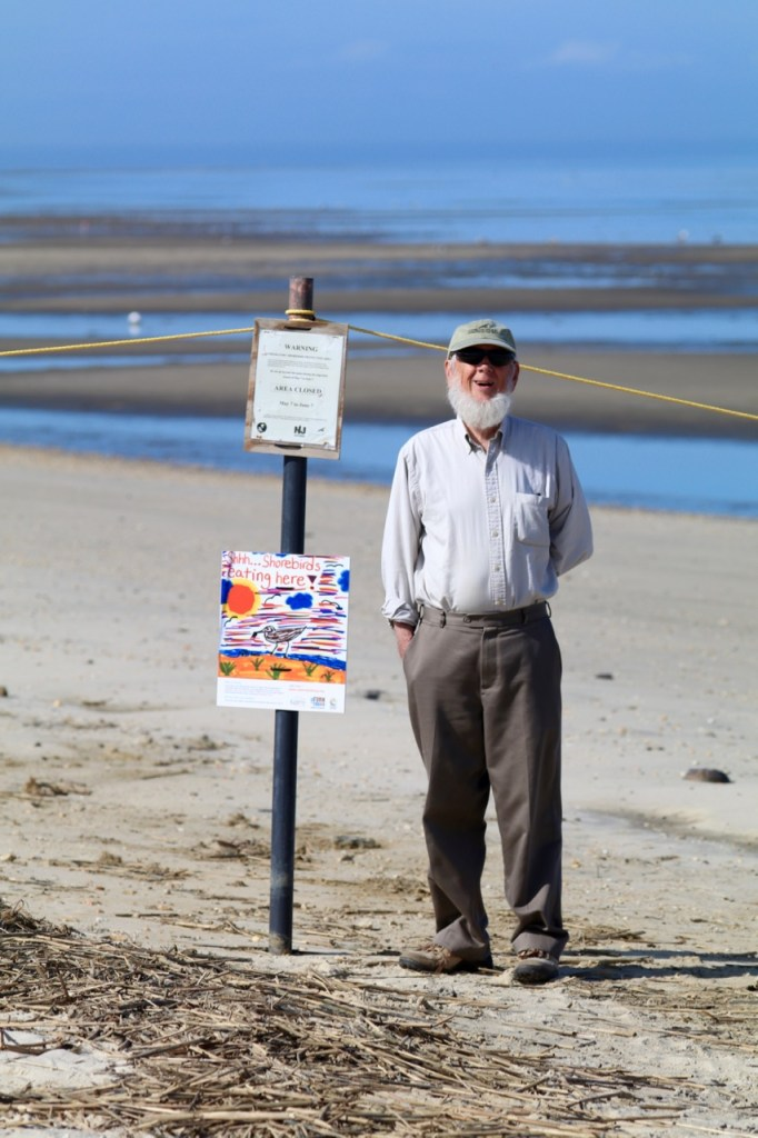 Jim May stewarding kimbles beach