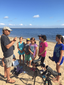Kids met biologist and beach nesting bird manager Todd Pover. He talked about - of course - the piping plover, and issues with conserving threatened and endangered beach nesting birds.