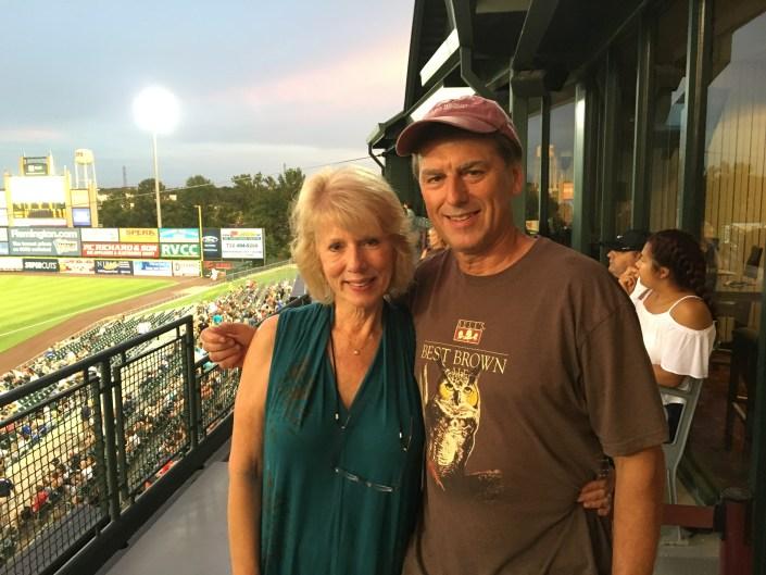 CWF founder, Linda Tesauro with long time board member, Rick Weiman.