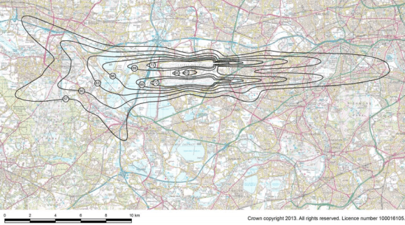 Noise contour map London