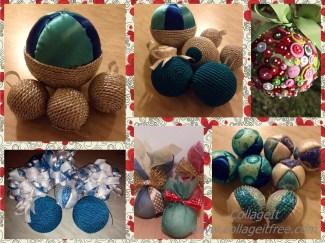 collage palline natale