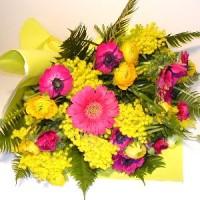 mazzo fiori mimosa