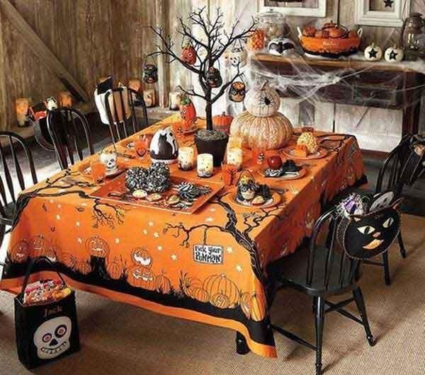decorazioni macabre per la tavola di halloween