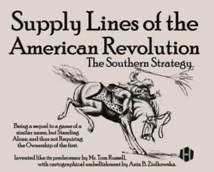 Supply Lines of the American Revolution: The Southern Strategy (new from Hollandspiele)