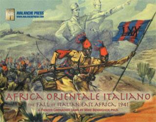 Panzer Grenadier: Africa Orientale Italiana (new from Avalanche Press)