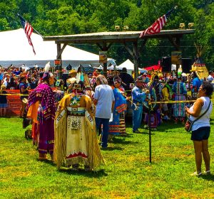 Beginning of Grand Entry at the Pow Wow