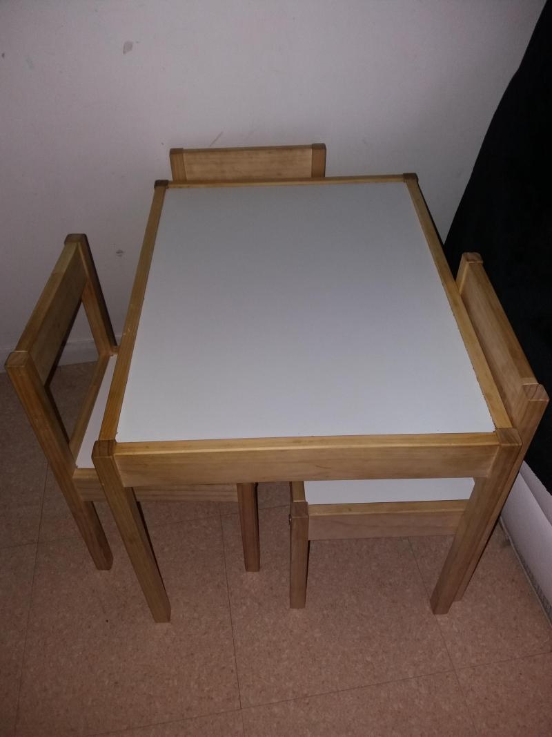table et deux chaises enfant latt ikea