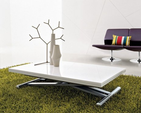 table basse relevable en aluminium
