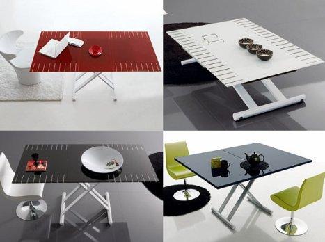 la table relevable ou extensible