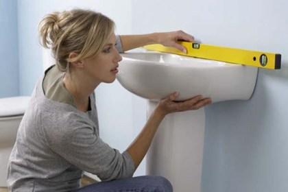 horizontalité de la pose de vasque à poser