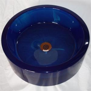 vasque bleue
