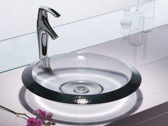 vasque de salle de bain en verre