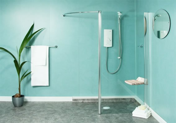 douche a l'italienne avec paroi douche