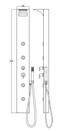 installation colonne de douche Sanlingo blanche avec jets de massage