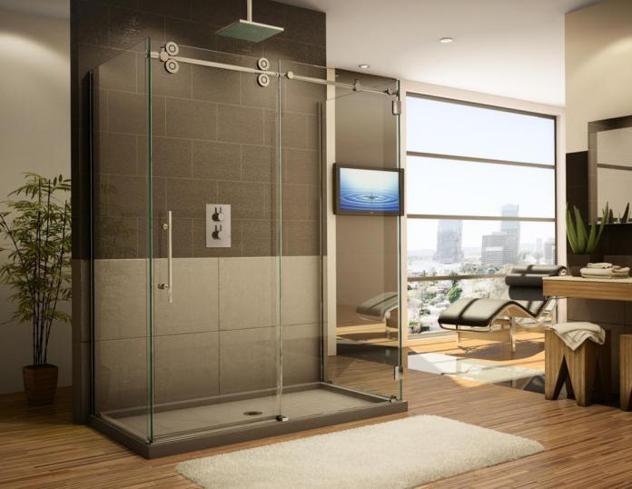 parois et portes de douche coulissantes