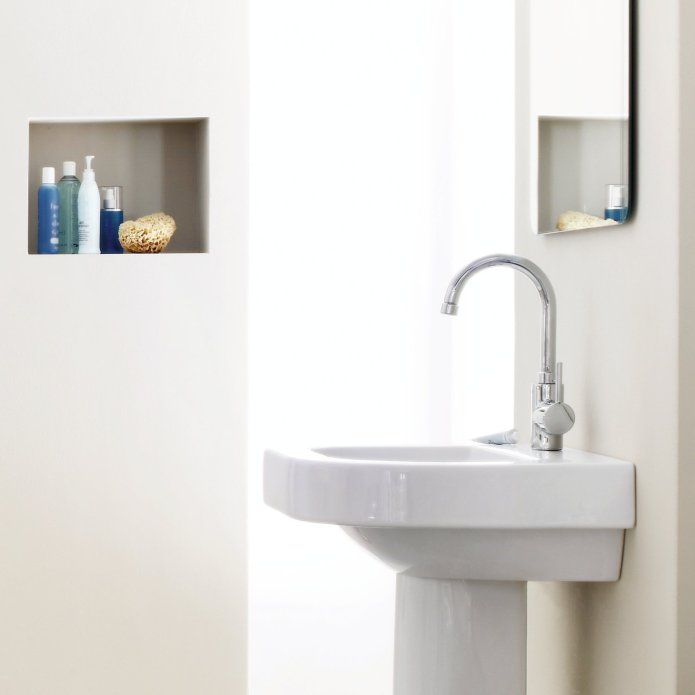 lavabo blanc mitigeur Grohe concetto