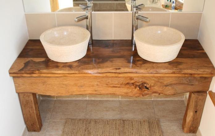 double vasques en marbre
