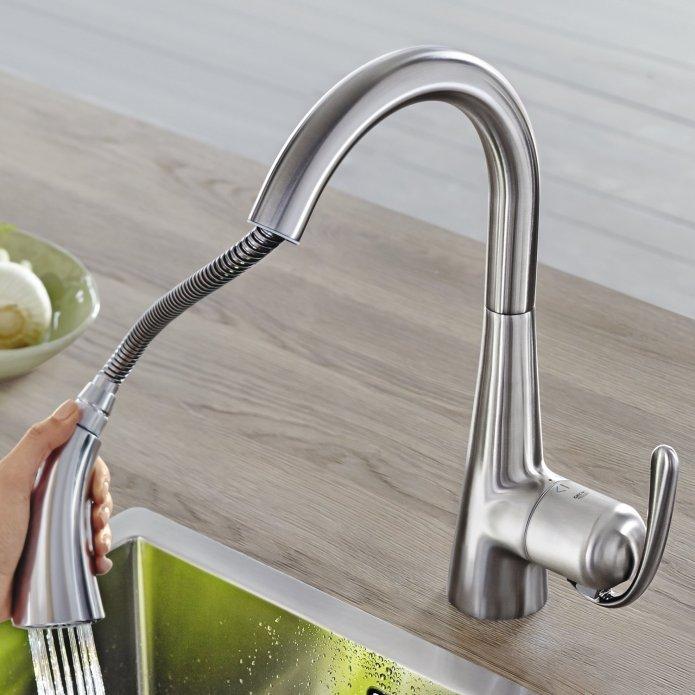 robinet Zedra RealSteel douchette extensible