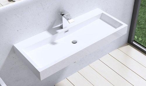 vasque lavabo à poser Colossum blanche rectangulaire