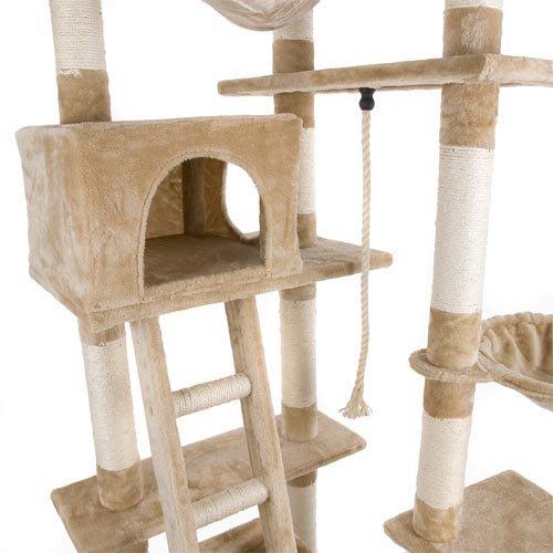 HAPPY PET  Grand arbre à chat avec griffoir et grattoir 230-260cm