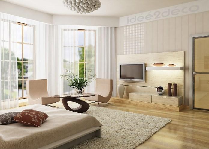 Design de chambre couleur sable