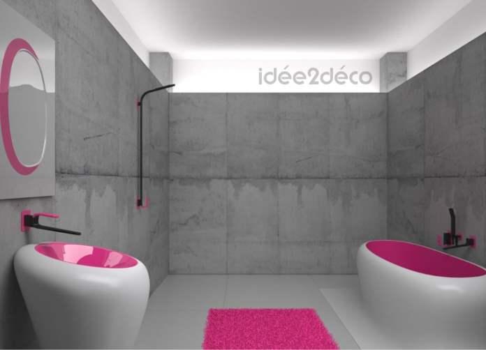 Un concept de salle de bain en béton