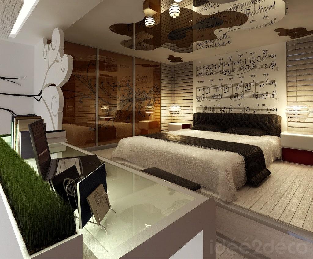 Une chambre ambiance musique classique