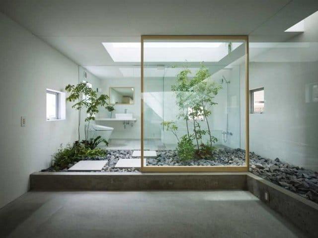 Salle de bain japonaise.