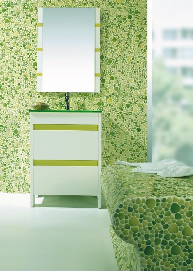 Une salle de bain en galats verts. .Source : designmag.fr