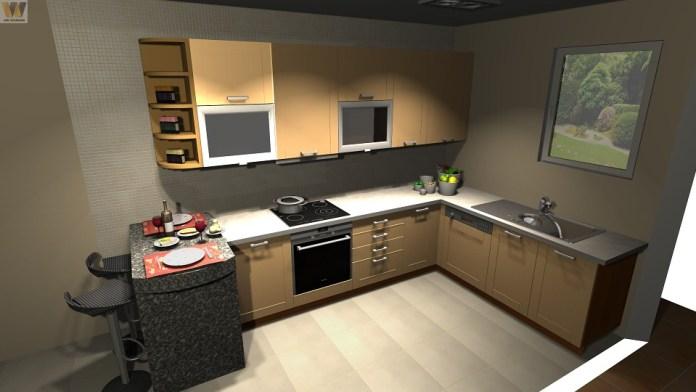 Facile à vivre, la cuisine en L s'adapte à tous les styles.