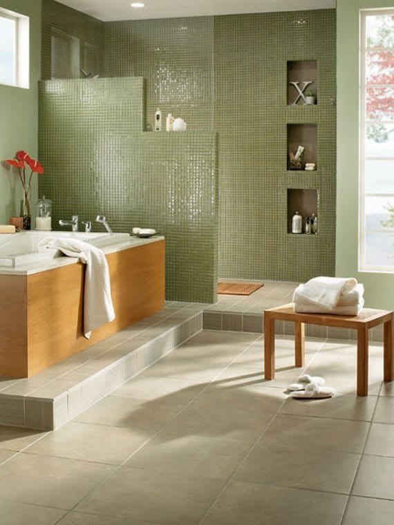 salle-de-bain-moasique-de-vert