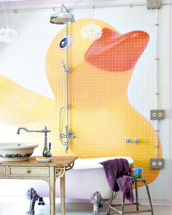 salle-de-bain-pour-enfant-avec-poussin-jaune
