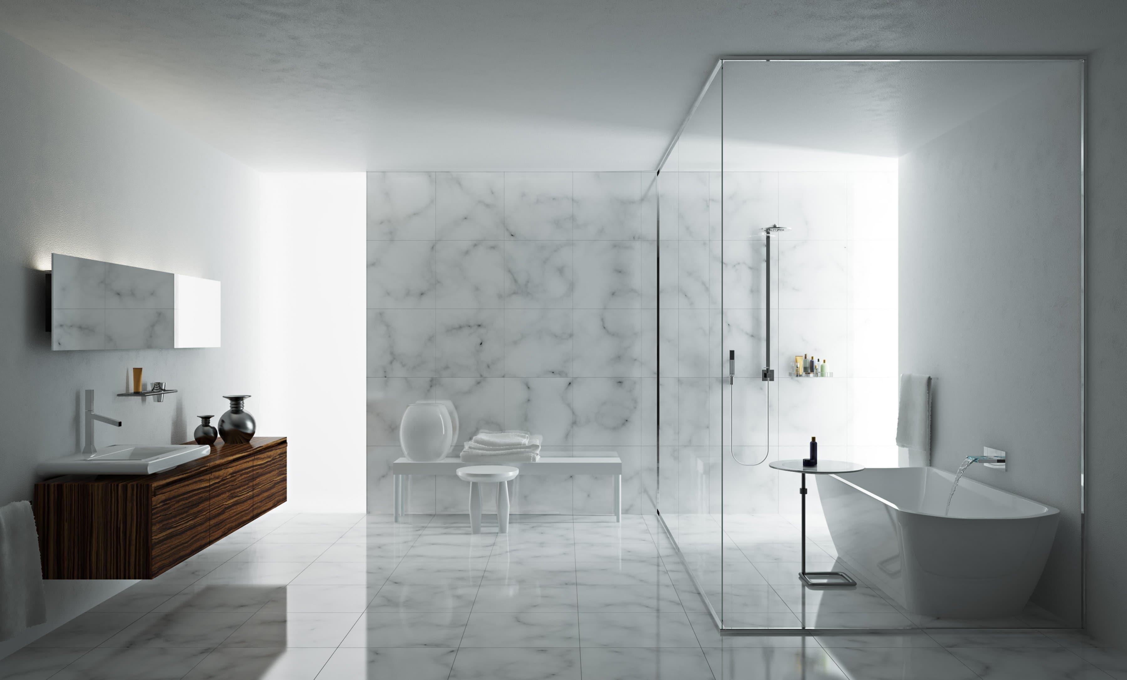 Salle de bain design minimaliste : 16 manières de débarrasser le
